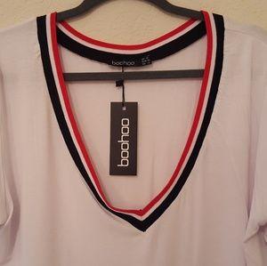 5593b087eac0 Boohoo Plus Tops - Boohoo Plus Jaden Rib V-neck Detail Tee NWT